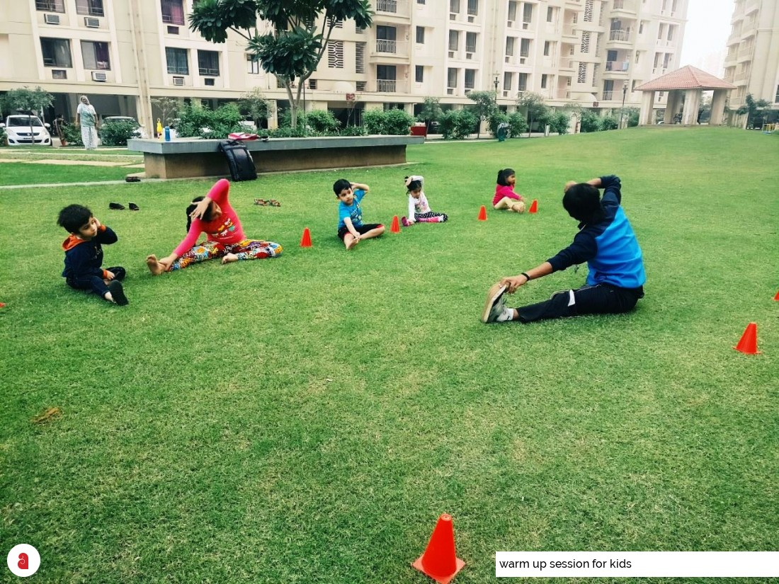 warm up session for kids
