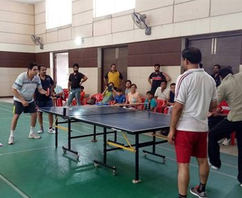 Residents Enjoying Table Tennis Match